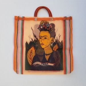 Handbags - Frida Kahlo Market Tote Bag (Handmade)